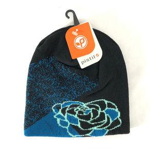 Pistil Womens Axel Beanie Hat Wool Blend Floral OS